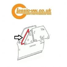 Mk2 Scirocco Front 1/4 Glass Seal, Left 533845261